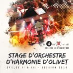 Stage 2020 : du 4 au 10 juillet